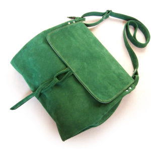 baronowa zielona zamsz przód pasek en face