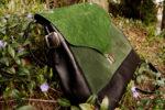 józefina skórzany kuferek czerń zieleń