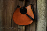 janis pomarańczowy brąz kieszeń okrągła