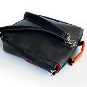 plecak prl czarny czerwony tył szelki