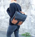 plecak teczka prl czarno orzech modelka