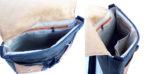 plecak teczka prl czarno orzech wnętrze podszewka detale