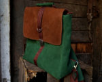 plecak teczka zielona orzechowa główne