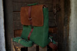 plecak teczka zielona orzechowa profil