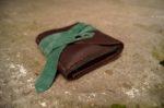 Skórzany portfel elficy zamknięty 2
