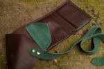 Skórzany portfel elficybrąz
