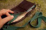 Skórzany portfel elficy otwarty