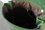 chimera smoczyca zielona wnętrze podszewka kieszenie
