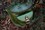 nerka zielona pull up liście