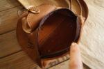 nerka naturalna jasny brąz beż wnętrze przegródka