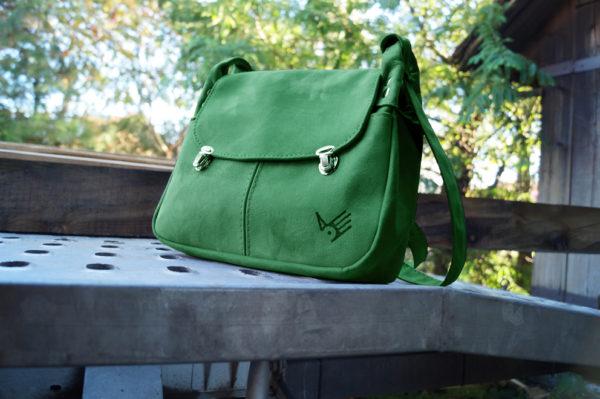 torba włóczykija zielony zamsz