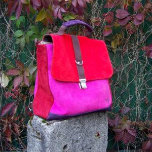 plecak torba owoce lasu zamsz liście jesień główne rączka