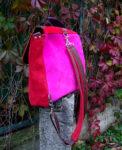 plecak torba owoce lasu zamsz tył