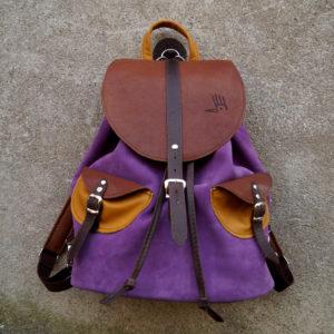 cycylia liliowa zamsz plecak sowa