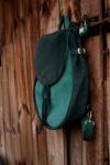 lizbeth plecak zaokrąglony zielony zamsz torba