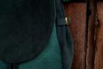 lizbeth plecak zaokrąglony zielony zamsz okrągła klapa