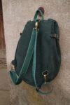 lizbeth plecak zaokrąglony zielony zamsz szelki odpinane