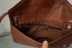 koperta kopertówka średni brąz kieszeń