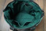 lukrecja zielony zamsz podszewka kieszenie