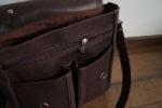 plecak prl ciemny brąz kieszenie zewnętrzne