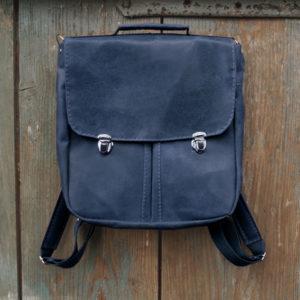 prl plecak torba niebieska skóra